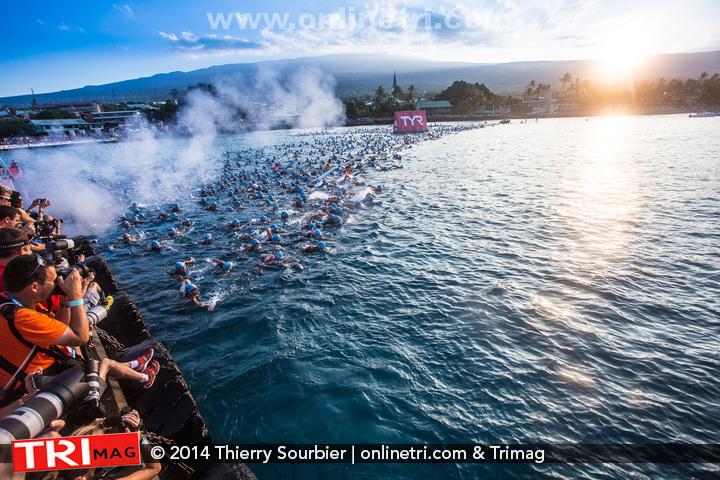 C'est parti pour 3800m de natation en bonne compagnie! (Photo : Thierry Sourbier)