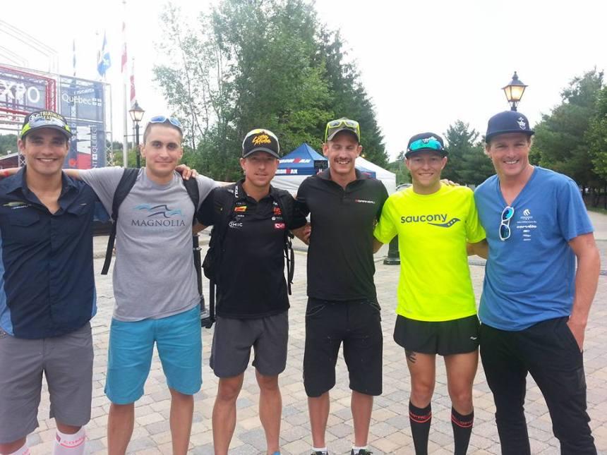 Crédit photo : Erin McDonald. De gauche à droite moi-même, Cody Beals, Thomas Gerlach, Lionel Sanders, Taylor Reid, Kyle Butterfield