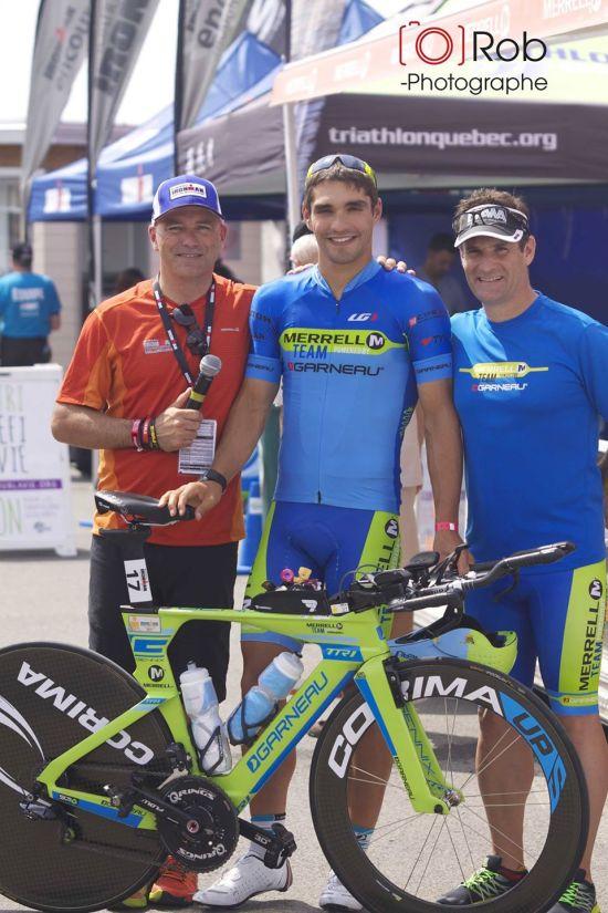 Veille de course avec Jacques Galarneau (speaker) et Christian Triquet (Merrell Canada)